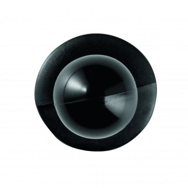 Kugelknöpfe (Kochjackenknöpfe) von Leiber, Farbe schwarz für 6-er Knopflochreihe