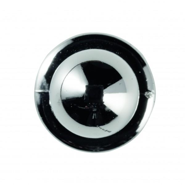 Kugelknöpfe (Kochjackenknöpfe) von Leiber, Farbe silber für 6-er Knopflochreihe