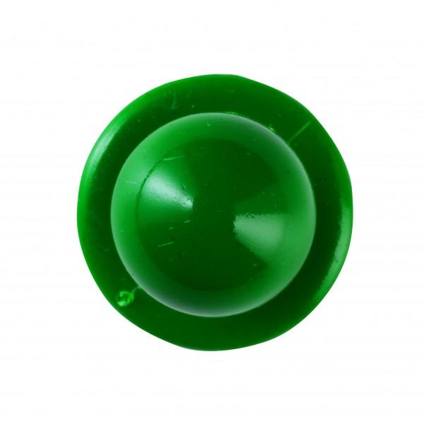 Kugelknöpfe (Kochjackenknöpfe) von Leiber, Farbe grün für 6-er Knopflochreihe