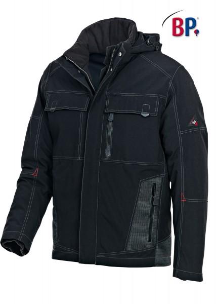 Wetterschutzjacke BP 1875 888 32 für Herren in schwarz mit Spezial-Thermoisolierung