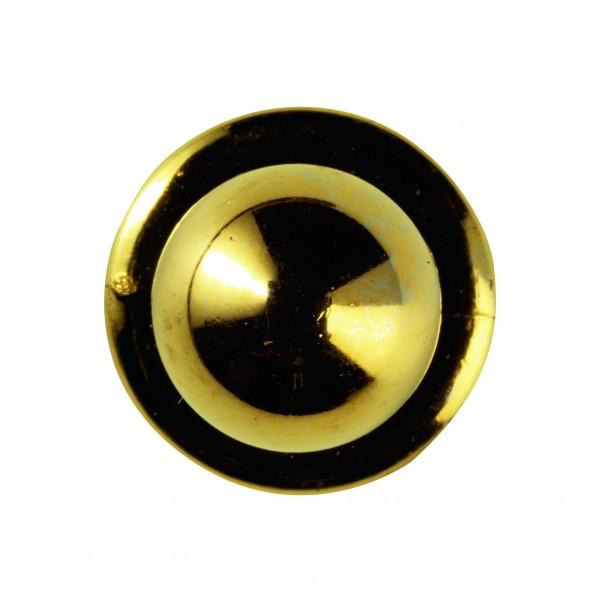 Kugelknöpfe (Kochjackenknöpfe) von Leiber, Farbe gold für 6-er Knopflochreihe